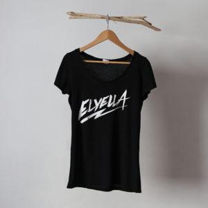 Camiseta Chica negra Bench ELYELLA