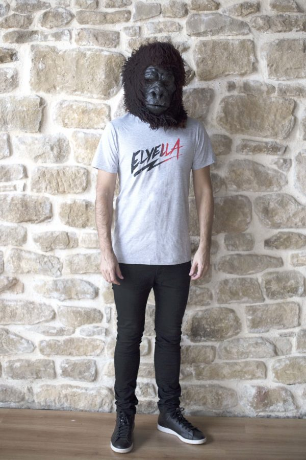 Camiseta unisex gris- logo ELYELLA degradado