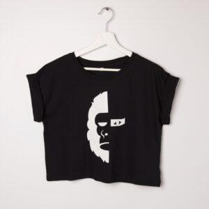 Camiseta Crop Top negra MØNØ-ELLA